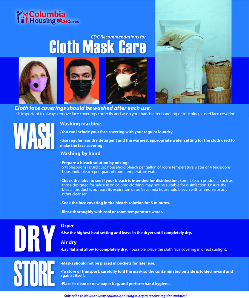 Cloth mask care guidelines