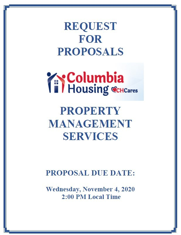 Cover page for property management services RFP