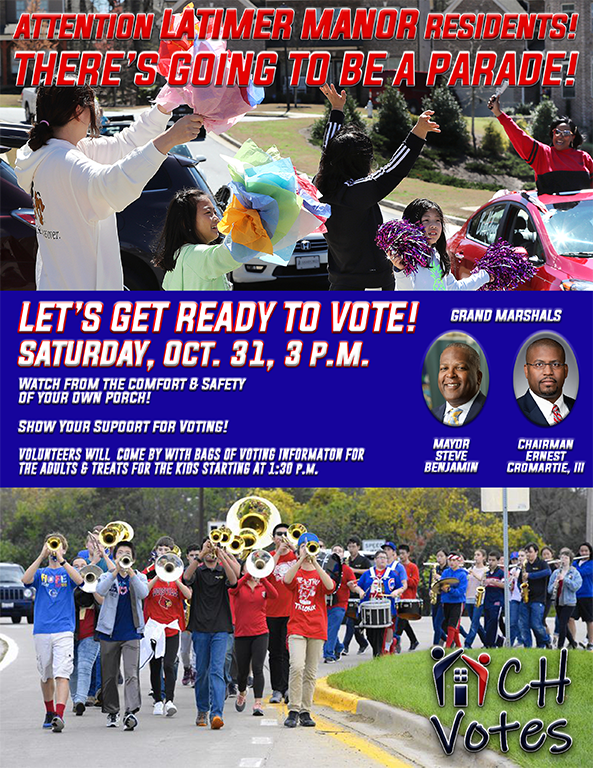 Latimer Manor Get Out the Vote Parade Saturday October 31 2020 3pm
