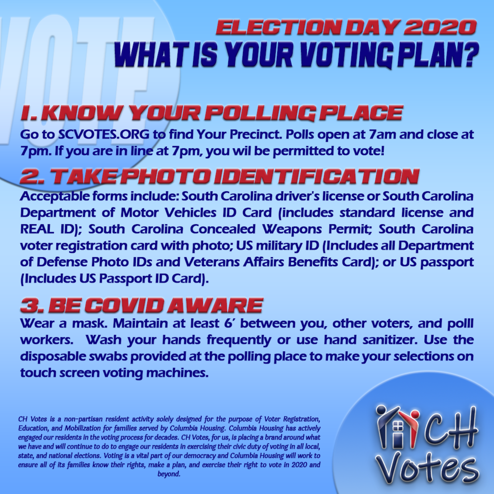 Voting Plan Tips for voters on Election Day 2020