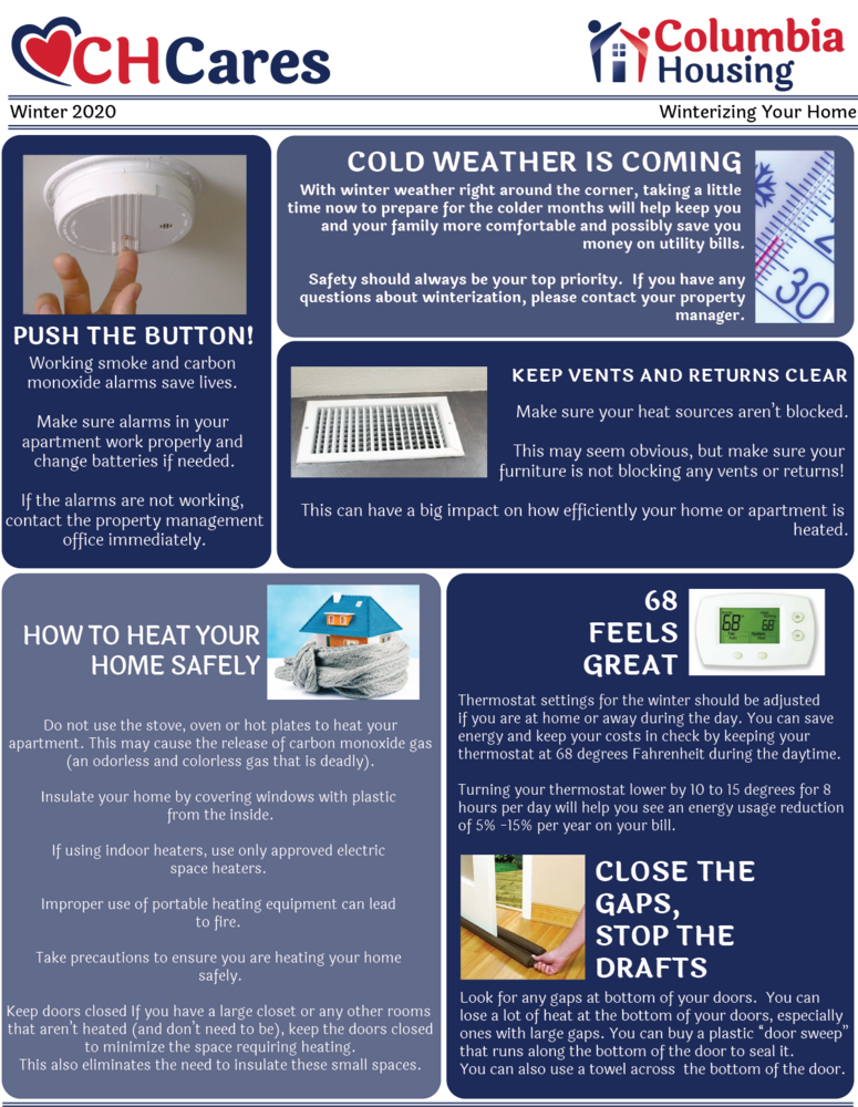 Winter tips for keeping your home warm and safe
