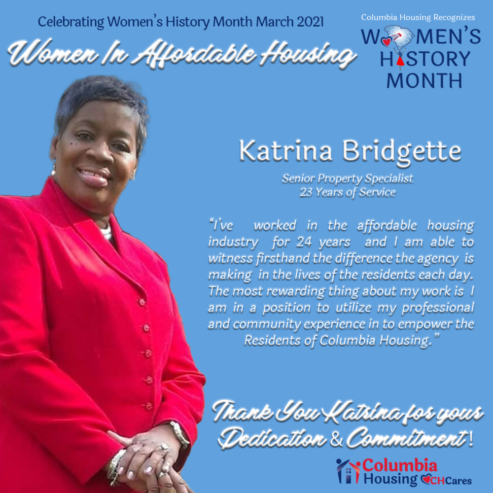 Celebrating Women in Affordable Housing - Katrina Bridgette
