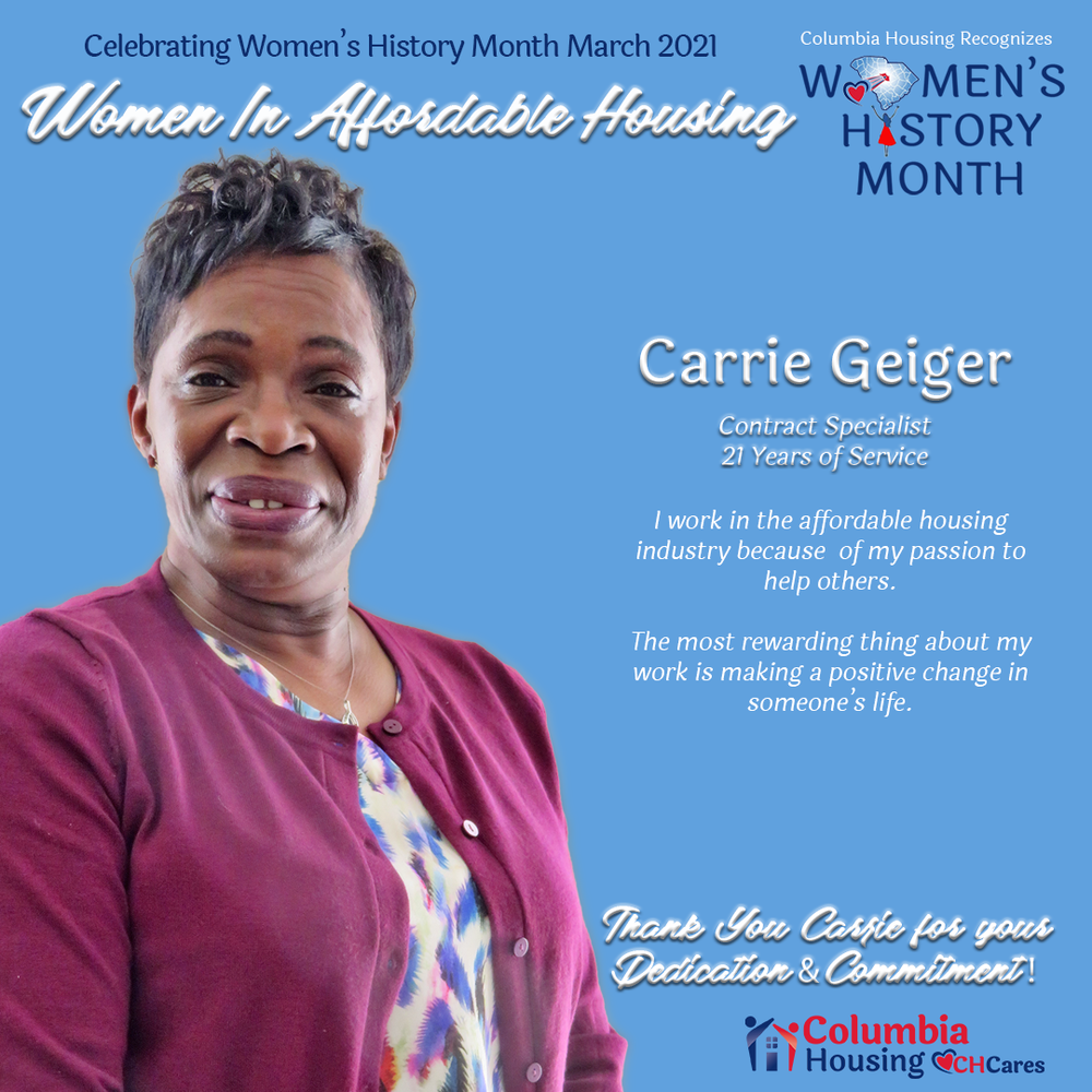 Celebrating Women in Affordable Housing - Carrie Geiger
