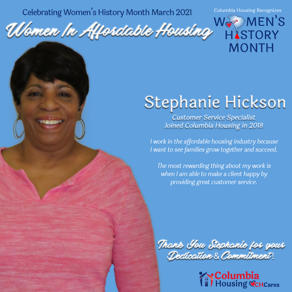 Celebrating Women in Affordable Housing - Stephanie Hickson