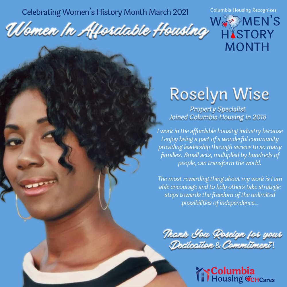 Celebrating Women in Affordable Housing - Roselyn Wise