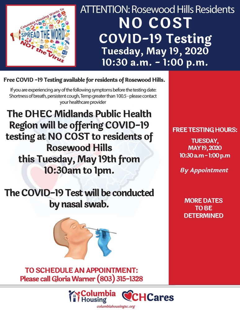 COVID testing May 19, 2020 at Rosewood Hills