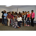 Interim Executive Director Ivory Mathews poses with the 2019 Class of Summer Youth Employment program participants as they take a 'silly shot'.